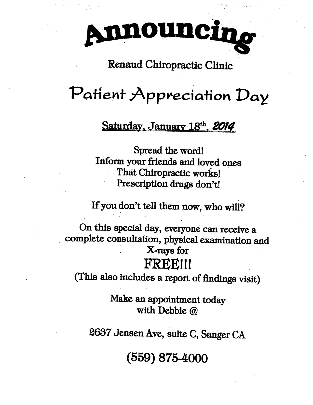 renaud chiropractic patient appreciation day